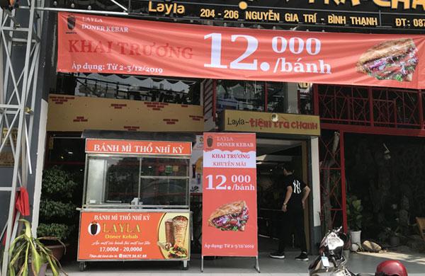 Địa chỉ cung cấp xe bánh mì Thổ Nhĩ Kỳ