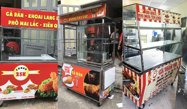 Xe gà rán - xe đẩy tủ bán gà rán xu hướng kinh doanh thời thượng