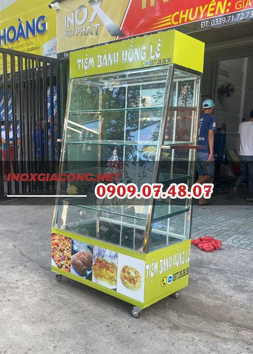 Tủ kính nhỏ bán bánh mì 1m
