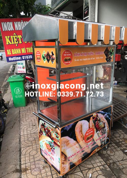 Mua xe bánh mì chả cá tại HCM | Inox Kiệt Phát