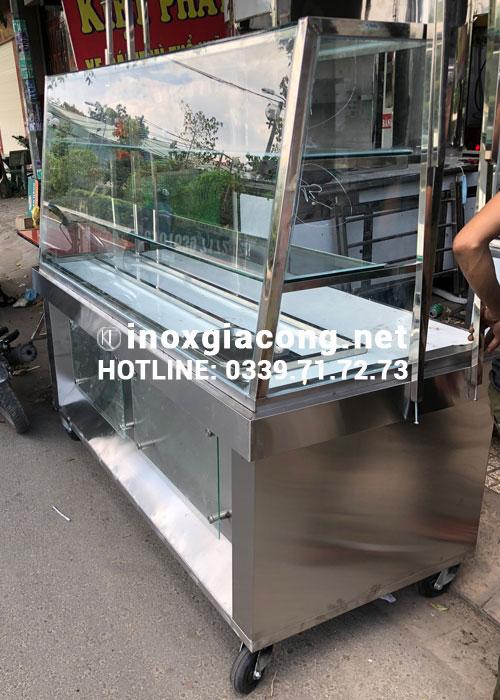 Xe bánh mì đẹp inox giá rẻ tại HCM | Kiệt Phát Inox