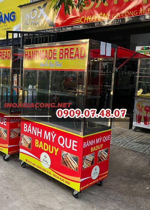 Mẫu xe bánh mì que 1m2