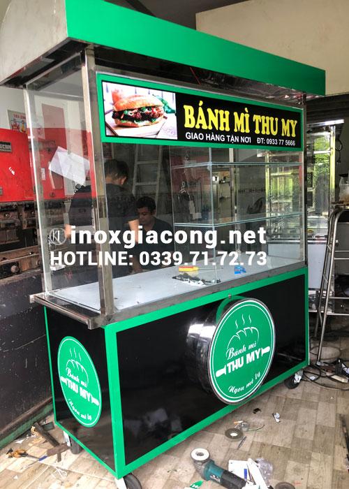 Xe bán bánh mì inox tại hcm