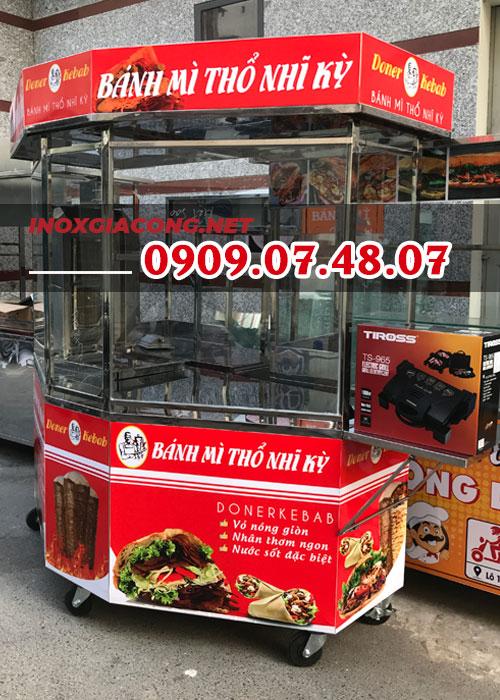 Xe bánh mì Kebab giá rẻ trọn bộ