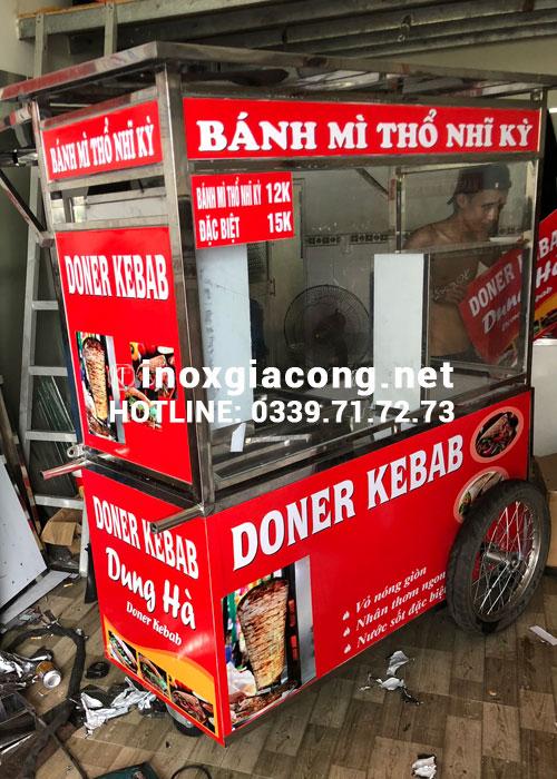 Giá xe bán bánh mì doner kebab bao nhiêu?