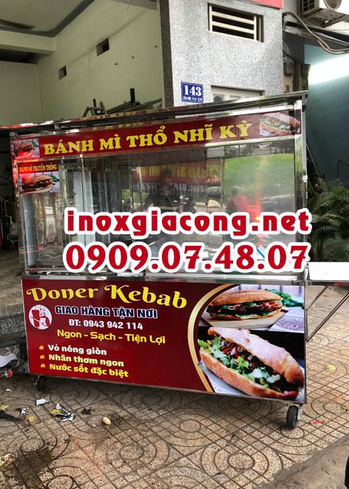 Mua xe bán bánh mì Doner kebab giá rẻ tại HCM