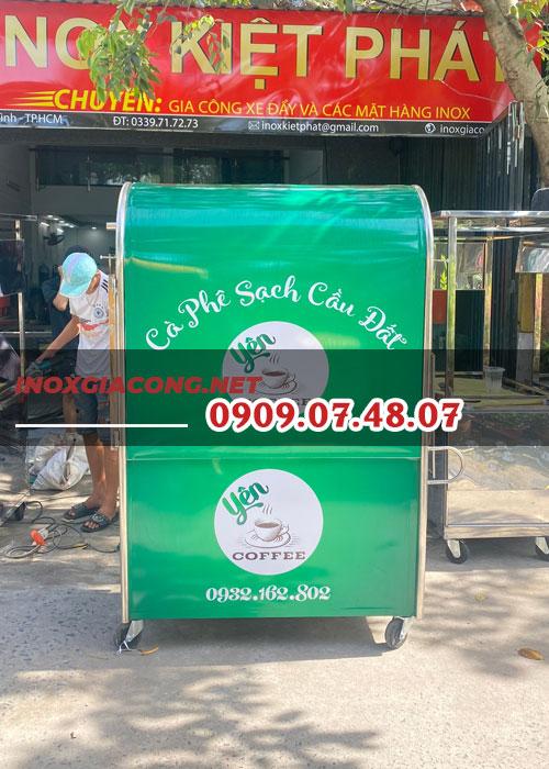 Xe bán cafe mang đi cũ 1m2