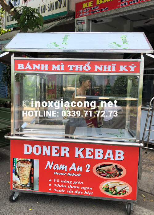 Bán xe bánh mì Doner Kebab | Inox Kiệt Phát