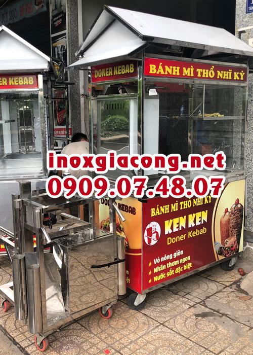 Giá xe bánh mì Doner Kebab | Inox Kiệt Phát
