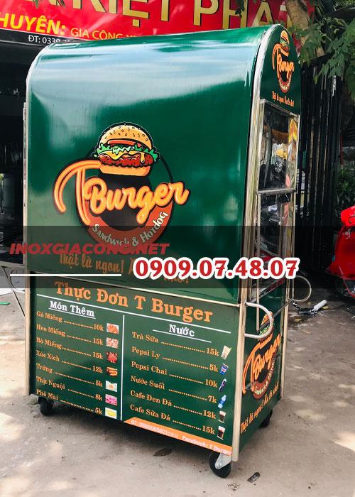 Mẫu xe bánh mì hamburger