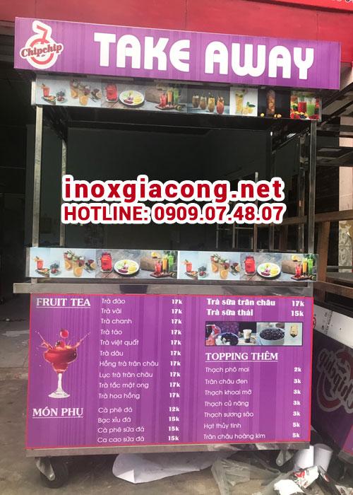 Xe bán trà sữa mang đi giá rẻ