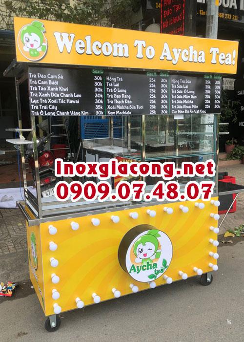Xe trà sữa inox giá bao nhiêu?