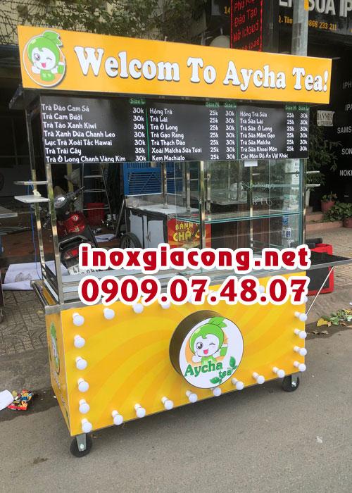 Xe trà sữa inox giá rẻ