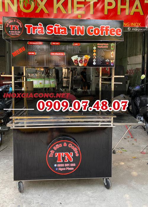 Báo giá tủ bán trà sữa 1M2 | inox Kiệt Phát