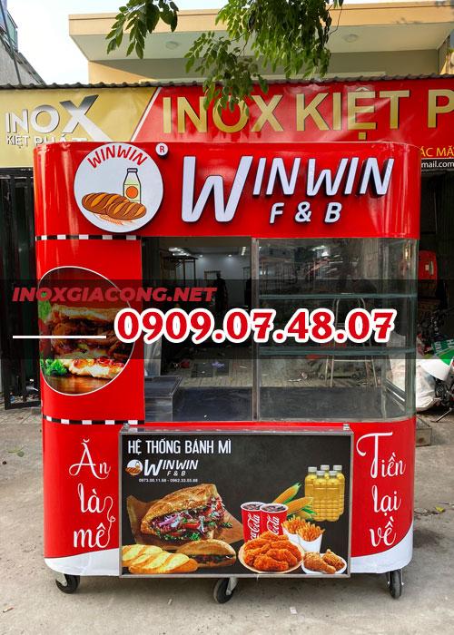 Giá bán trọn bộ xe bánh mì Thổ Nhĩ Kỳ 1M8 | Inox Kiệt Phát