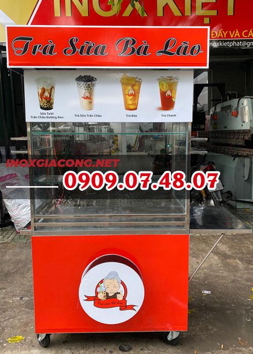 Mua trọn bộ xe bán trà sữa 1M2 | Inox Kiệt Phát