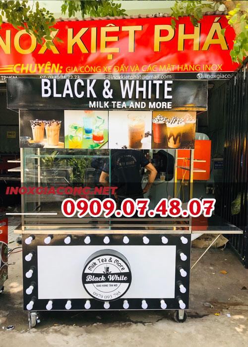 Mua trọn bộ xe bán trà sữa inox 1M4 | Inox Kiệt Phát
