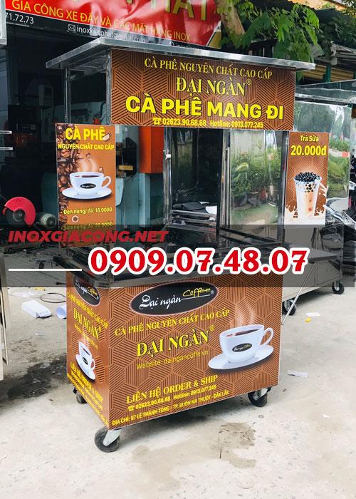 Xe bán cà phê lưu động inox