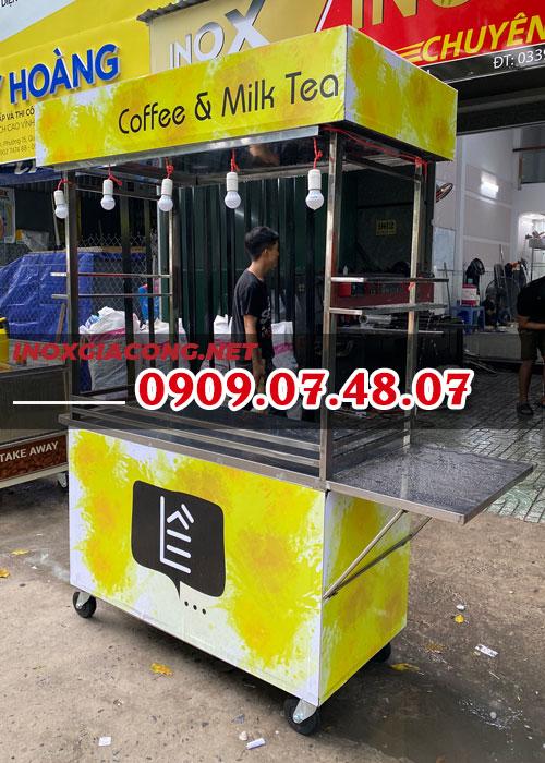 Mua xe bán cà phê trà sữa 1M2 | Inox Kiệt Phát
