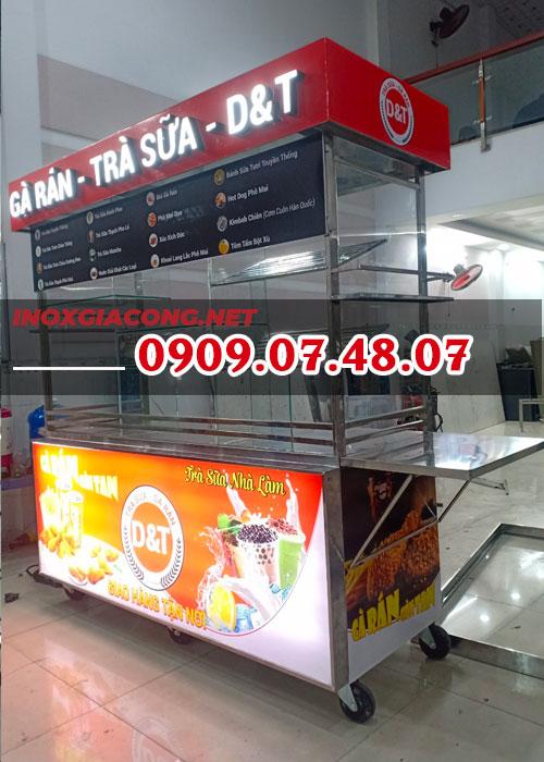 Mua xe bán gà rán trà sữa 1M8 | Inox Kiệt Phát