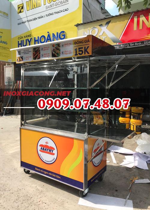 Mua xe bánh mì trọn bộ 1M2 | Inox Kiệt Phát