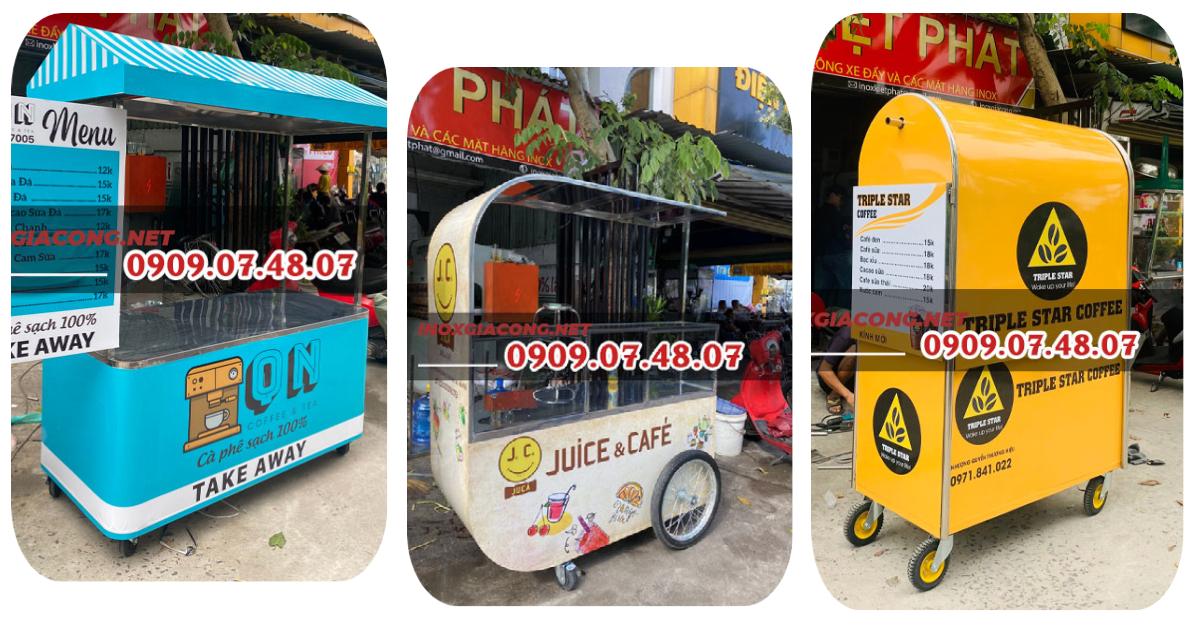15+ mẫu xe bán cà phê mang đi tiện dụng, giá rẻ, chất lượng