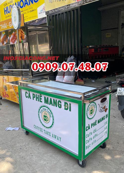 Nơi bán xe bán cafe take away | Inox Kiệt Phát