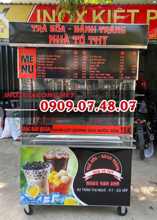 Nơi bán xe bán trà sữa 1M2 | Inox Kiệt Phát