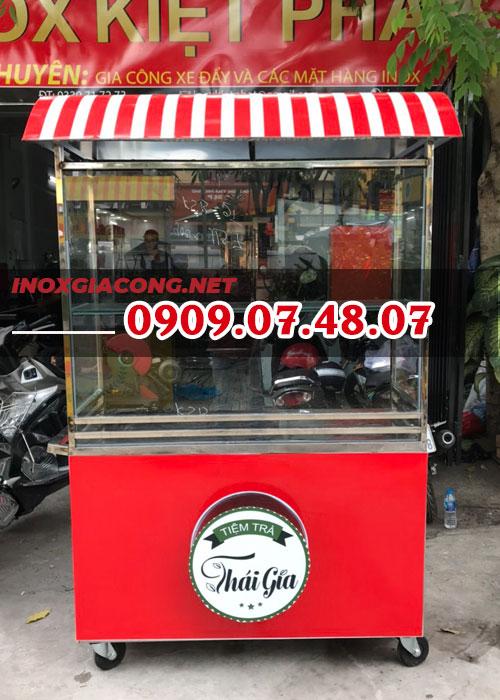 Tủ bán trà inox 1M2 | Inox Kiệt Phát