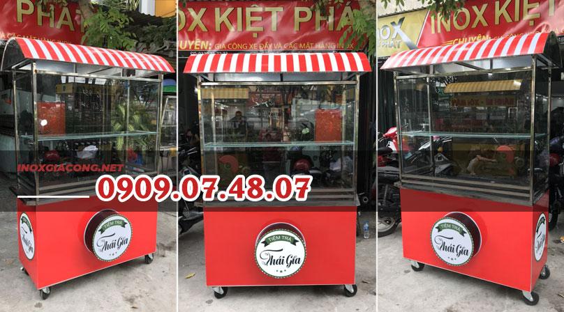 Tủ bán trà sữa inox