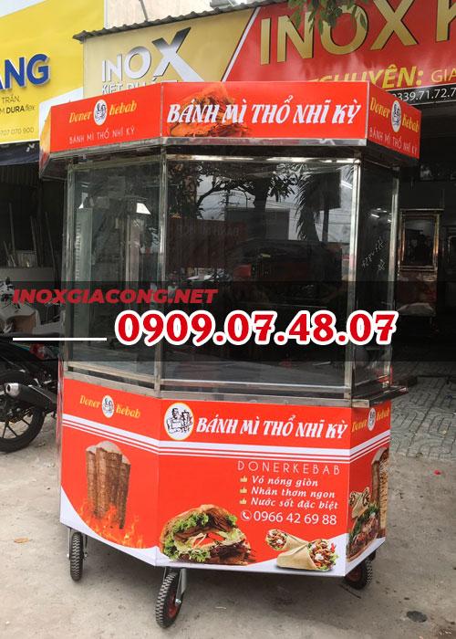 Trọn bộ xe bánh mì Thổ Nhĩ Kỳ lục giác 1M8 | Inox Kiệt Phát