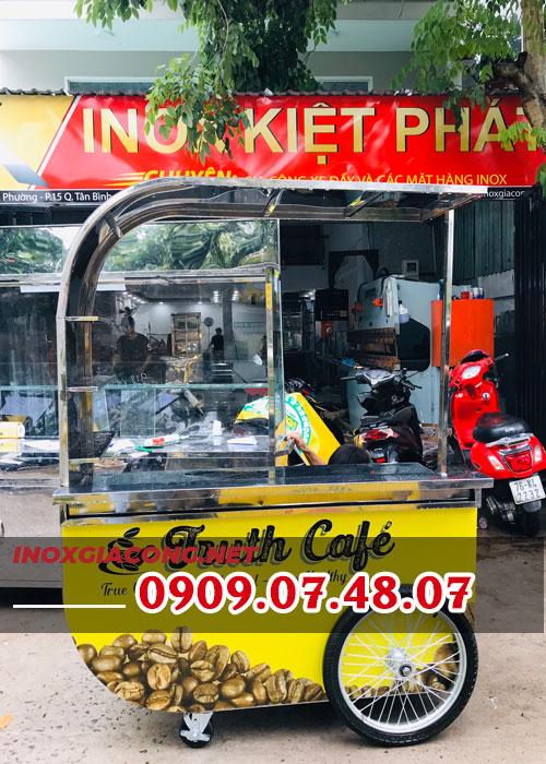 Xe đẩu bán cà phê take away lắp ráp 1M4 | Inox Kiệt Phát