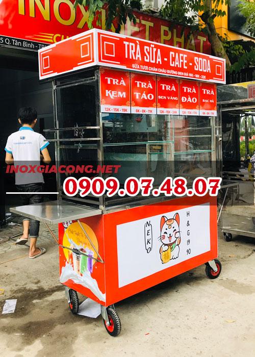 Xe bán cà phê trà sữa giá rẻ 1M2 | Inox Kiệt Phát