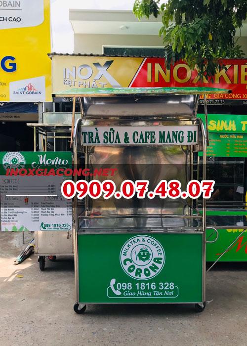 Xe bán cà phê trà sữa mang đi 1M2 | Inox Kiệt Phát