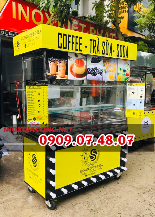 Xe bán trà sữa cà phê trọn bộ