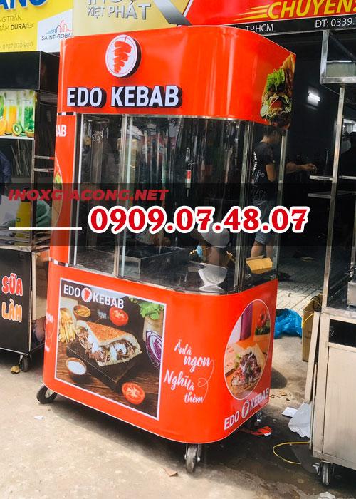 Xe bánh mì Thổ Nhĩ Kỳ cong ấn tượng 1M2 | Inox Kiệt Phát