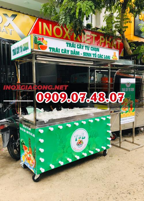Xe bán trái cây tự chọn 1M6 | Inox Kiệt Phát