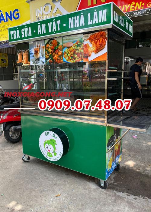 Bán xe trà sữa TP.HCM 1M4 | inox Kiệt Phát