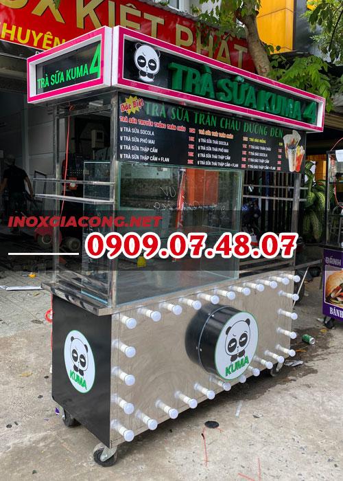 Báo giá tủ bán trà sữa 1M6 | inox Kiệt Phát