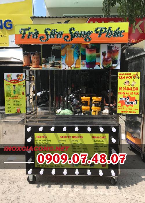 Cách trang trí xe trà sữa đẹp   Inox Kiệt Phát