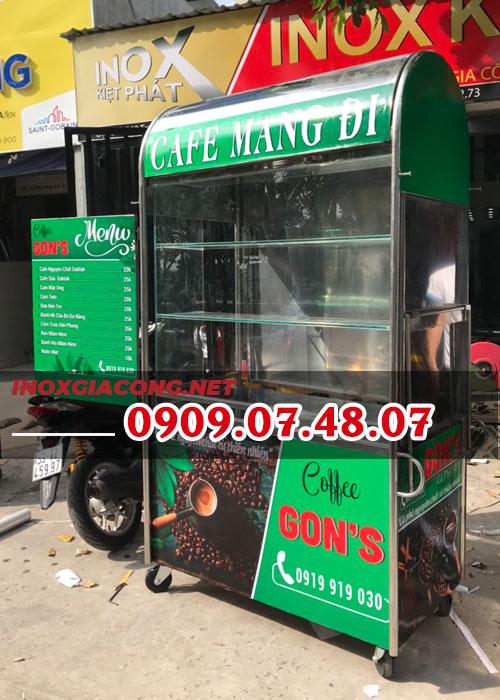 Các mẫu xe bán cà phê dọc đường | Inox Kiệt Phát