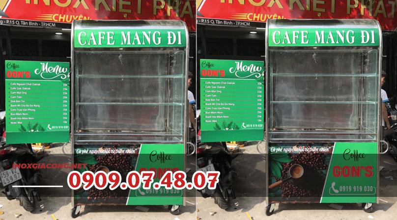 Mẫu xe bán cà phê dọc đường