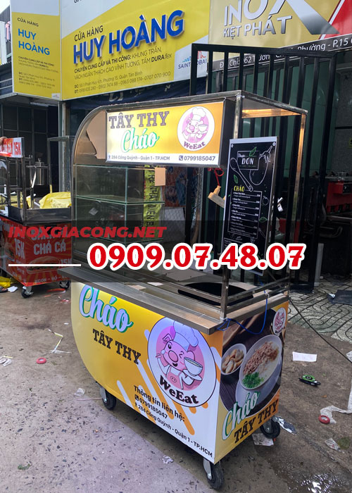 Mua xe bán cháo inox 1M2 | Inox Kiệt Phát