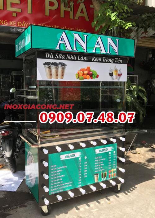 Tìm mua xe bán trà sữa | Inox Kiệt Phát