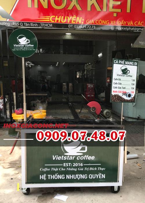 Xe bán cà phê mang đi milano 1M2 | Inox Kiệt Phát