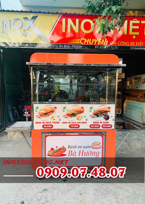 Mua xe bán bánh mì , tủ bánh mì 1M2 | Inox Kiệt Phát