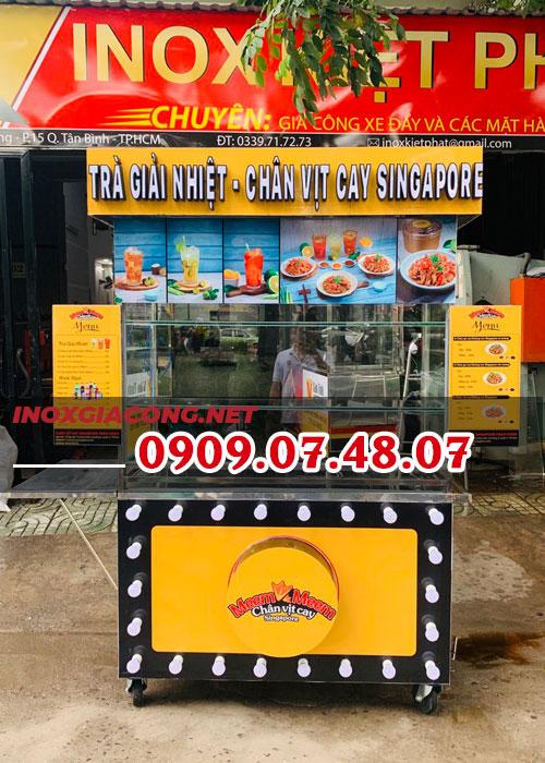 Mua xe bán trà đồ ăn vặt | Inox Kiệt Phát