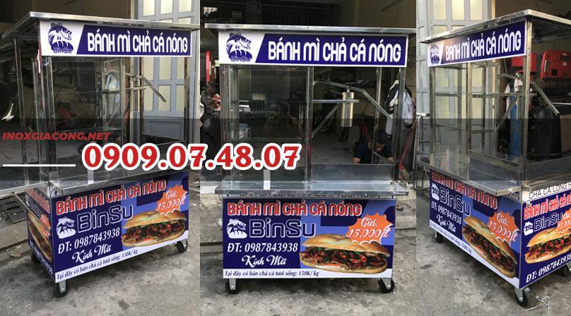 Xe bánh mì chả cá nóng giá rẻ