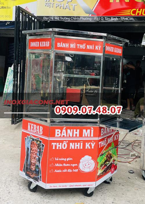 Địa chỉ bán xe bánh mì Thổ Nhĩ Kỳ lục giác 1M2 | Inox Kiệt Phát