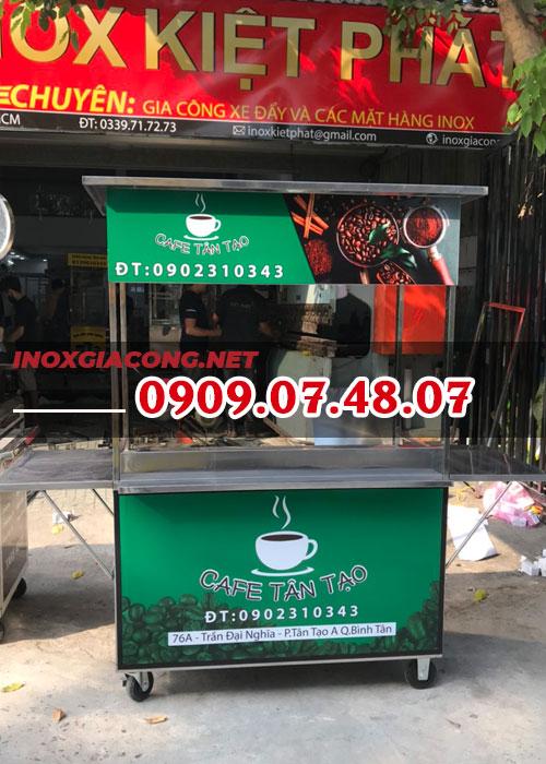 Xe cafe mang đi inox 1M2 | Inox Kiệt Phát